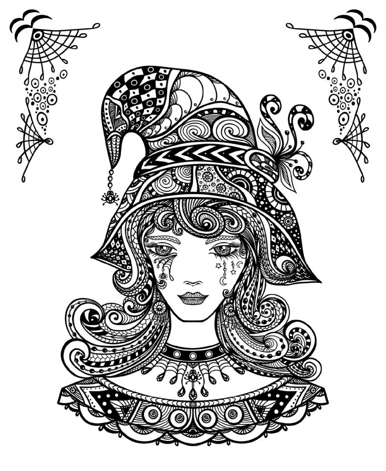 Printable Coloring Pages For Adults Halloween