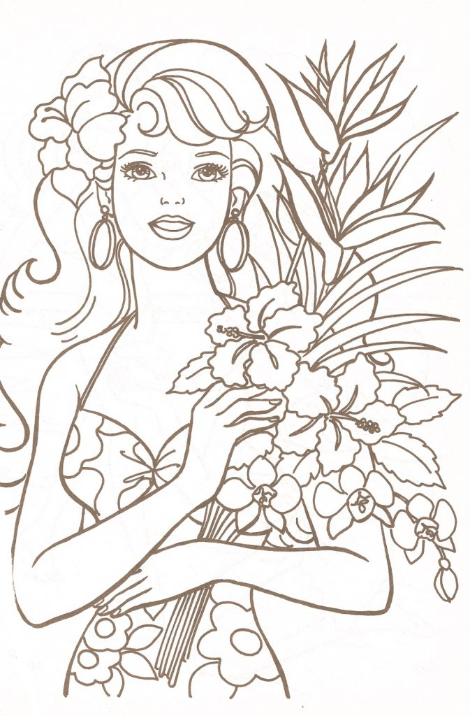 Printable Coloring Pages For Girls Barbie
