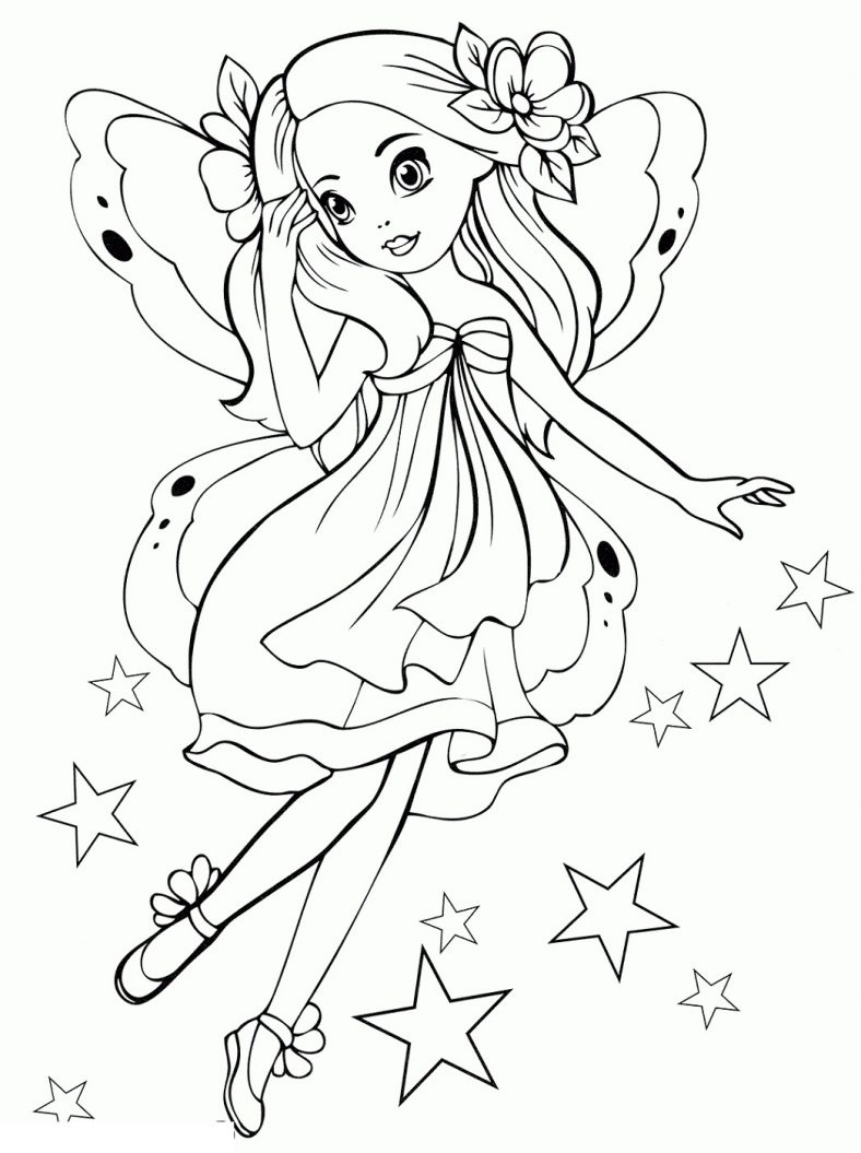 Printable Coloring Pages For Girls Fairy