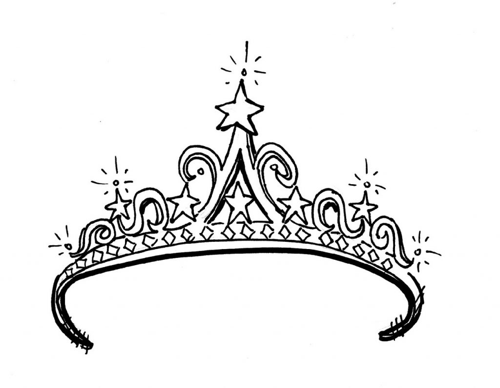 Printable Coloring Pages For Girls Tiara
