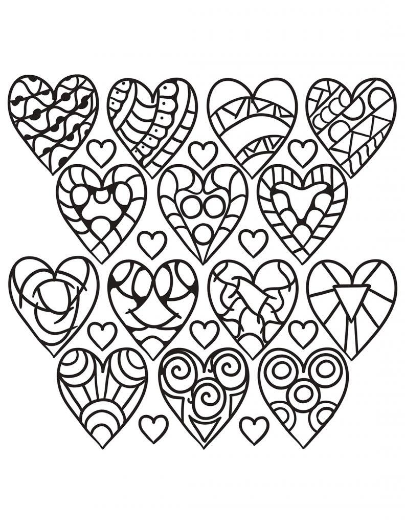 Printable Coloring Sheets Heart