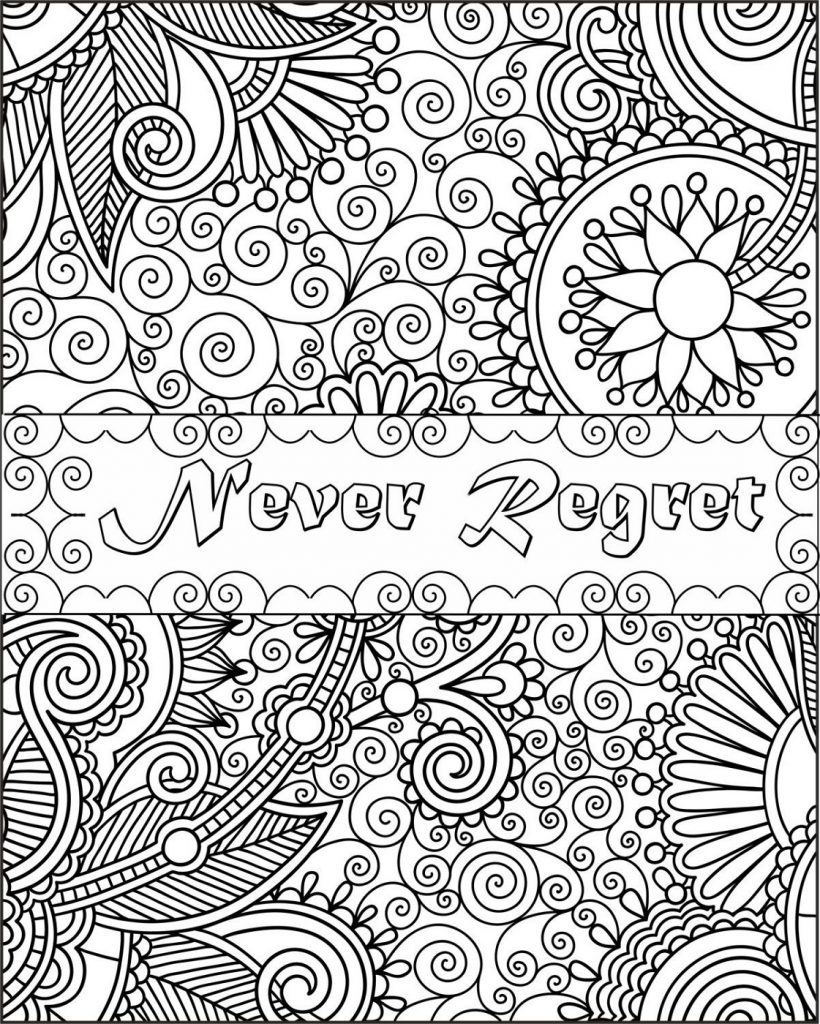 Printable Coloring Sheets Quotes