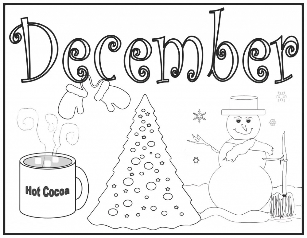 Printable December Coloring Pages