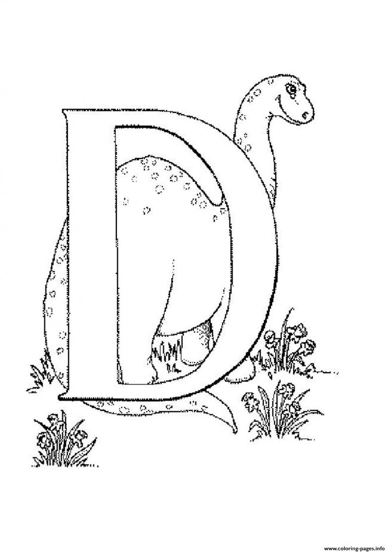 Printable Dinosaur Coloring Pages Letter D