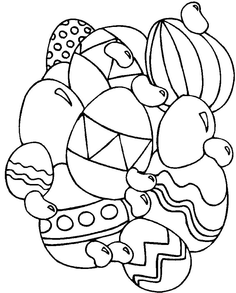 Printable Easter Egg Pictures To Colour