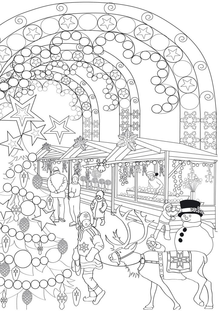 Printable Free Christmas Coloring Pages For Adults