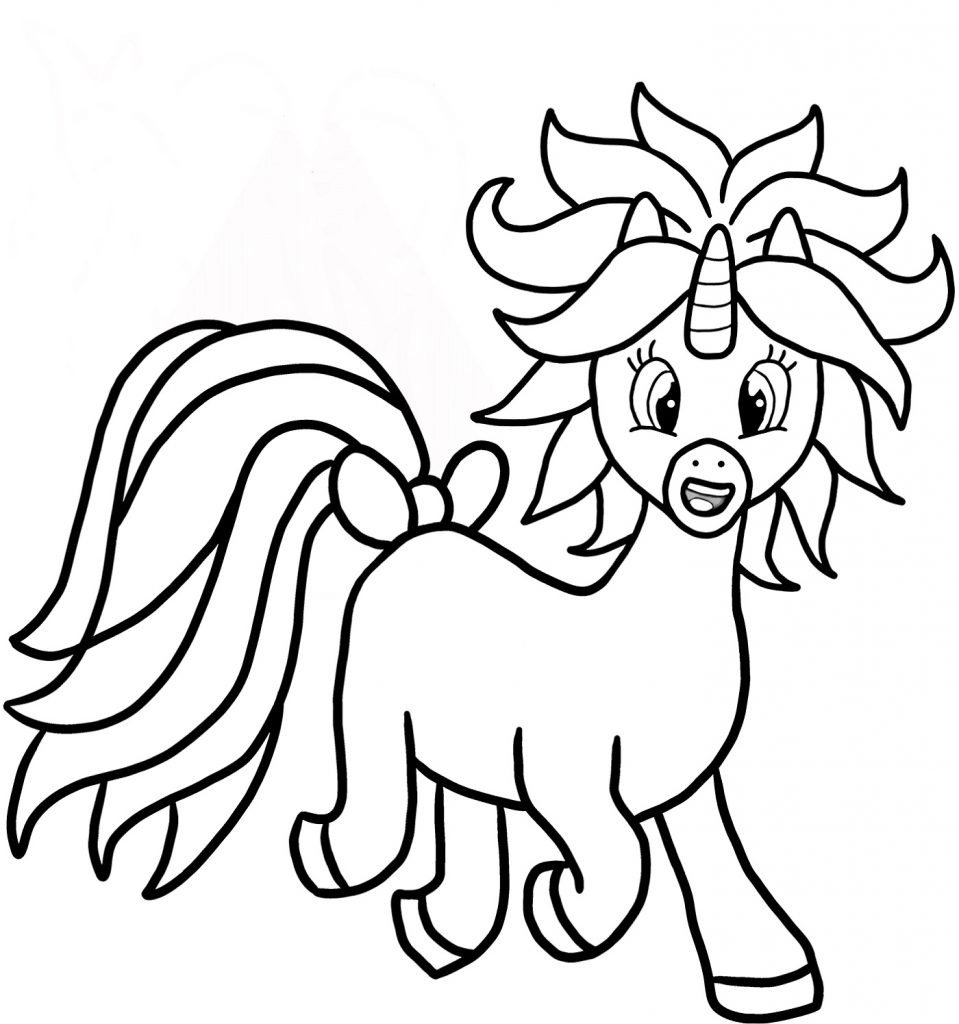 Printable Unicorn Coloring Pages Cartoon