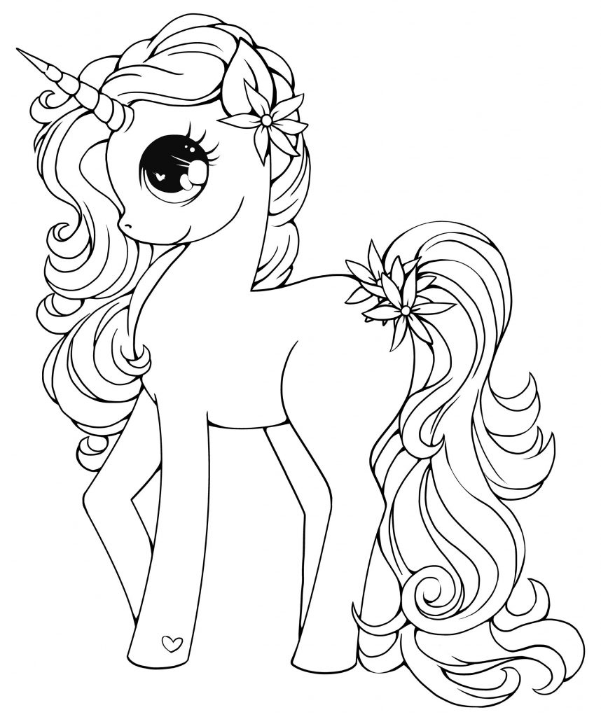 Printable Unicorn Coloring Pages My Little Pony