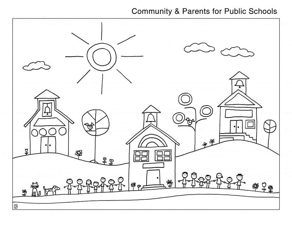 Public School Coloring Pages