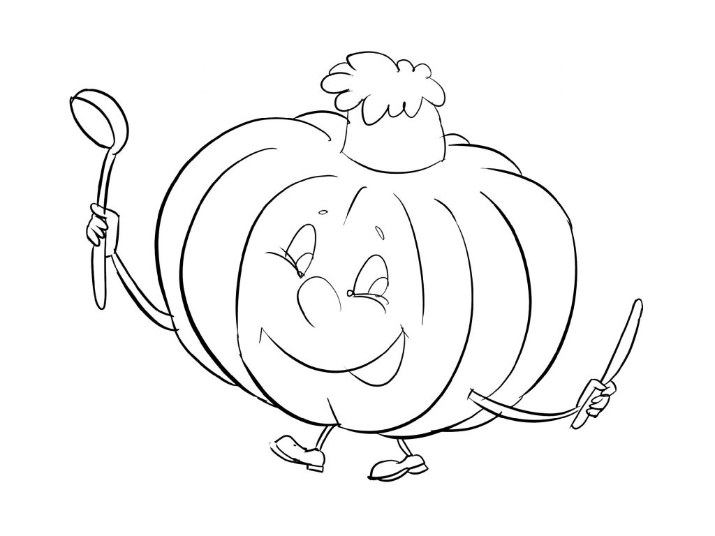 Pumpkin Coloring Pages Cartoon