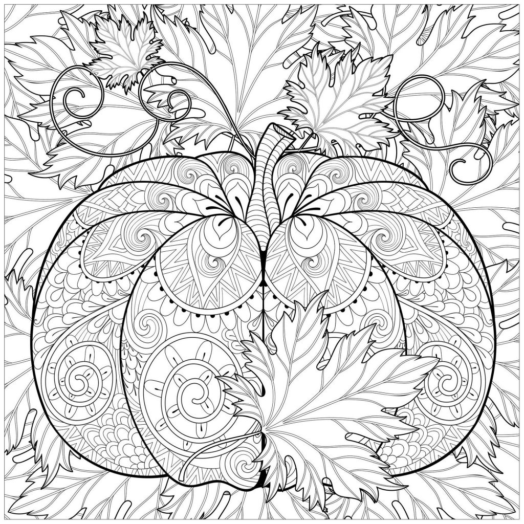 Pumpkin Coloring Pages Pattern