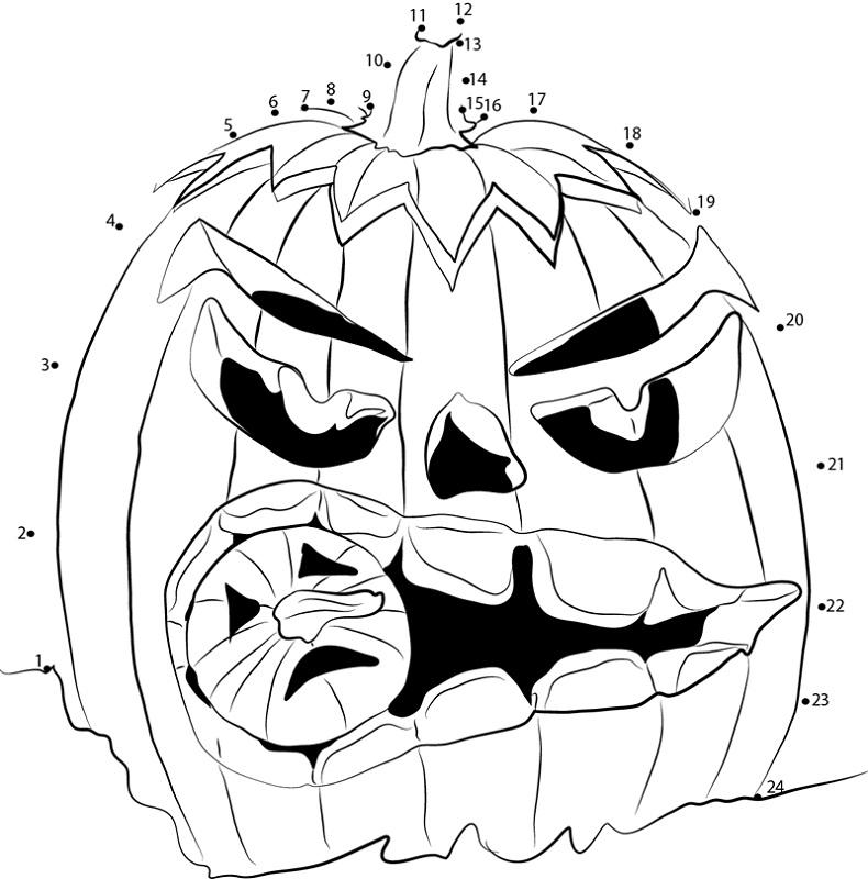 Pumpkin Dot To Dot Halloween