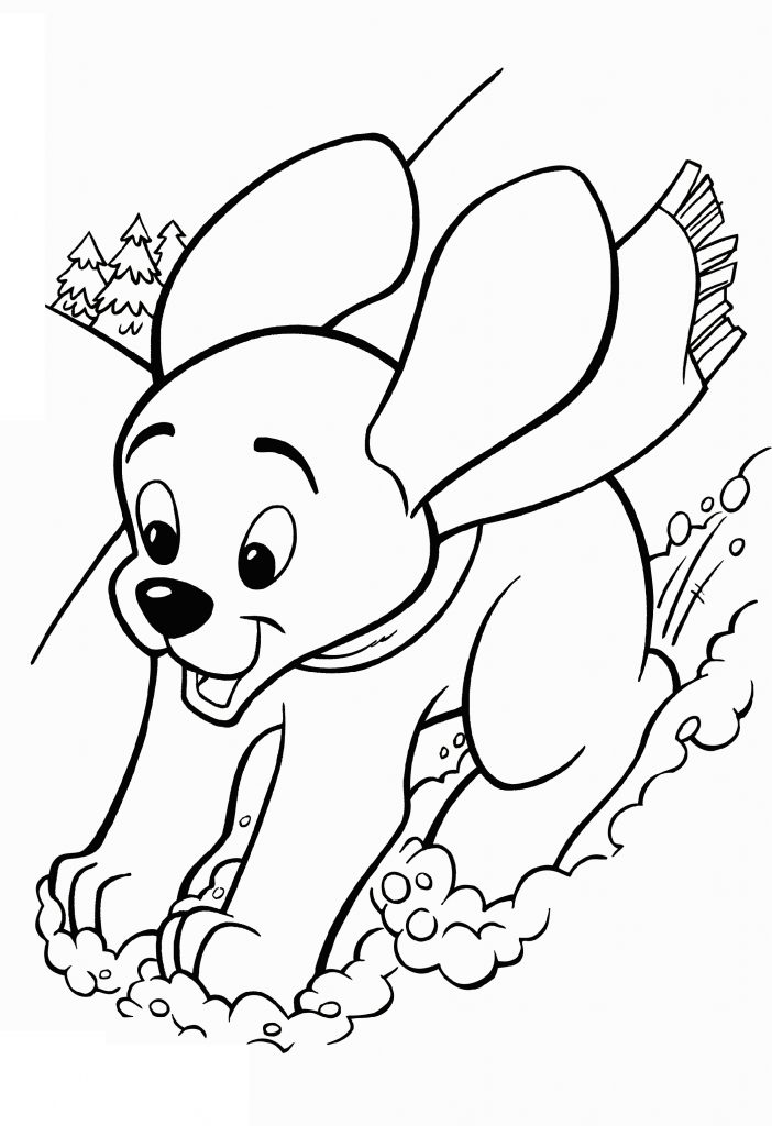 Puppy Coloring Pages Playing