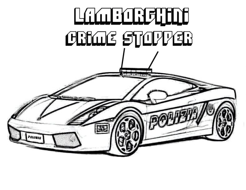Race Car Coloring Pages Lamborghini