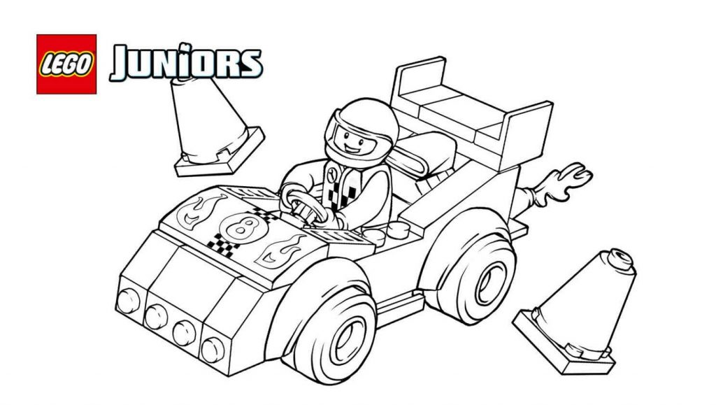 Race Car Coloring Pages Lego