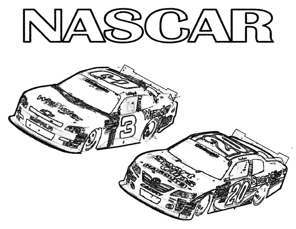Race Car Coloring Pages Nascar