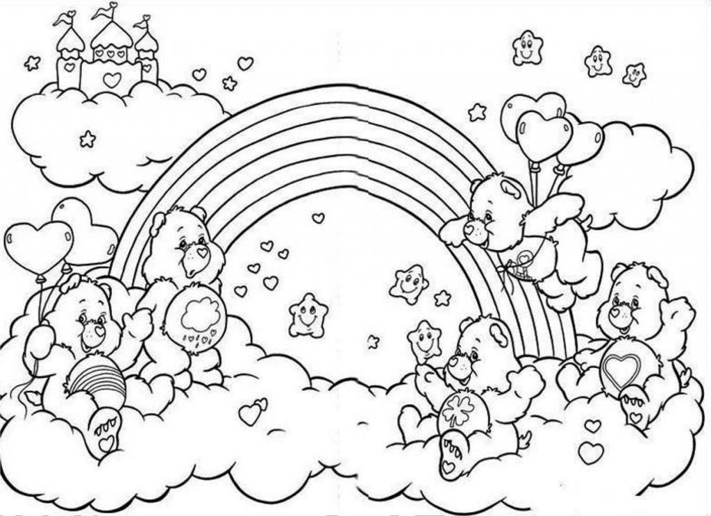 Rainbow Coloring Page Cute