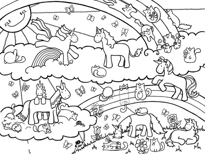 Fairy Unicorn Coloring Pages Printable 101 Coloring