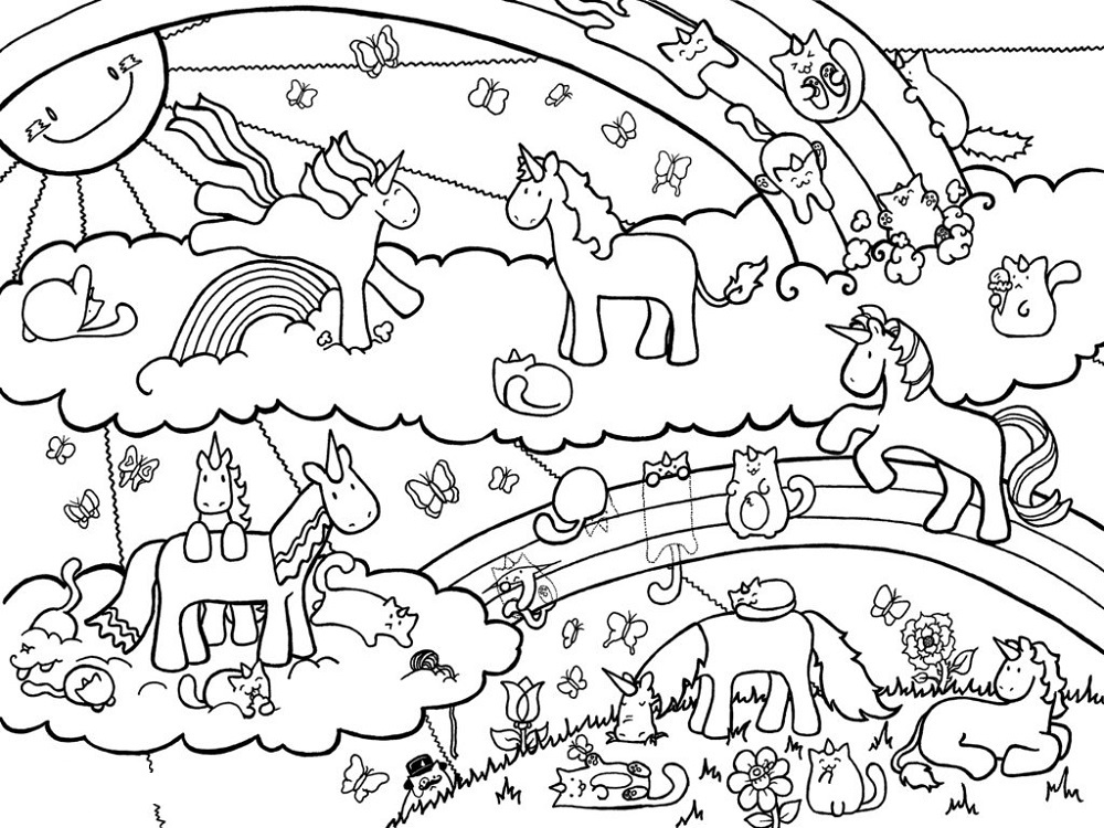 Unicorn Coloring Pages | Unicorn coloring pages, Dragon coloring ... | 750x1000