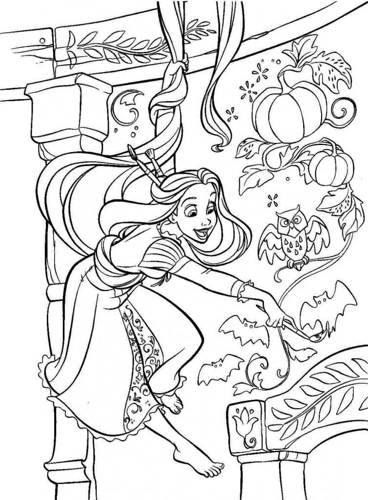 Pretty And Fabulous Rapunzel Coloring Pages 101 Coloring