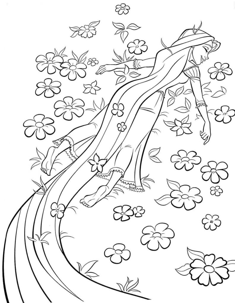 Rapunzel Coloring Pages Tangled
