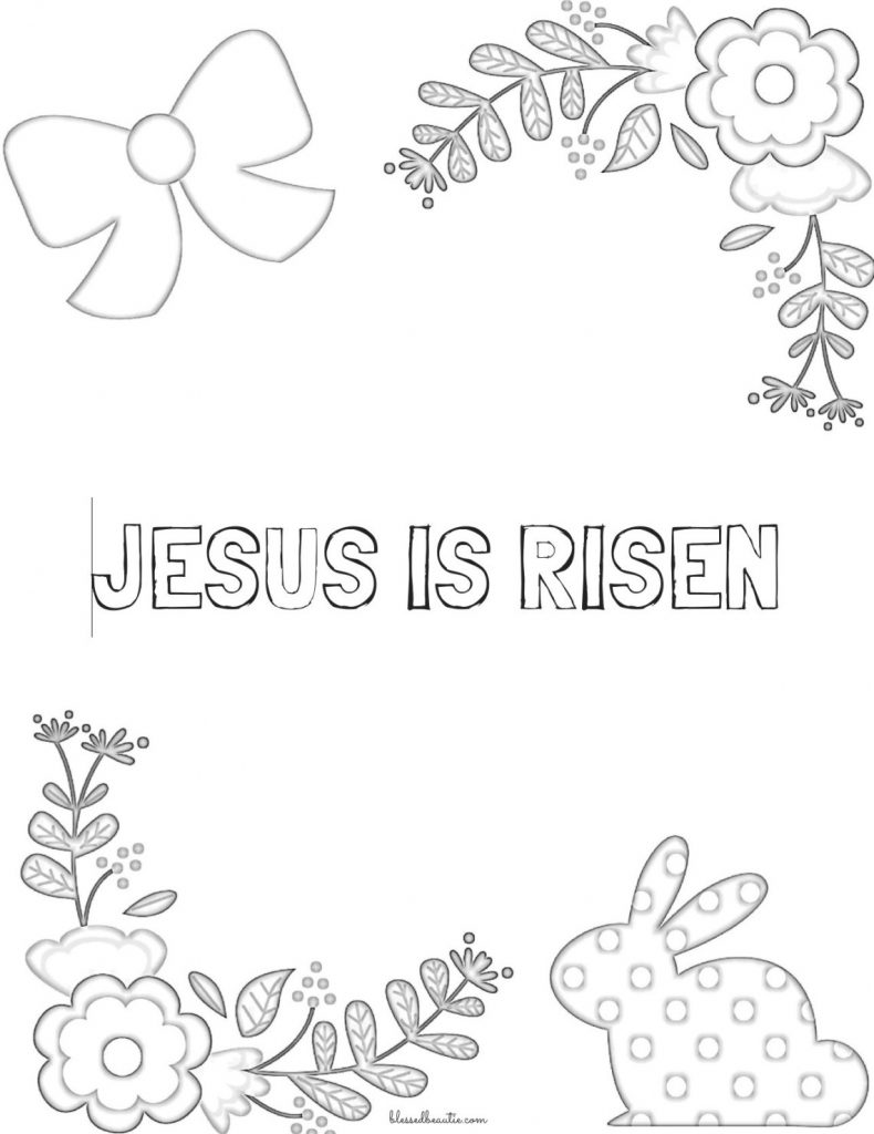 Religious Easter Coloring Pages Bible