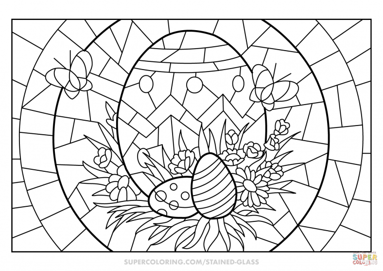 Religious Easter Coloring Pages Egg