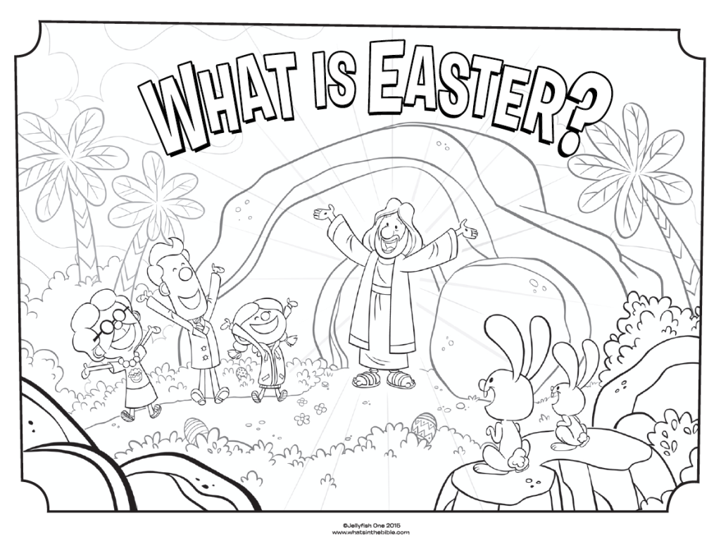 Religious Easter Coloring Pages Scenes