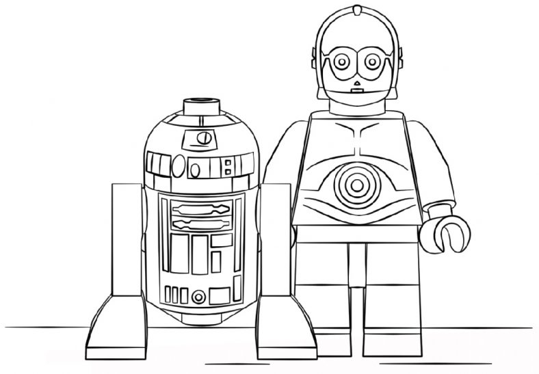 Robot Coloring Pages Lego