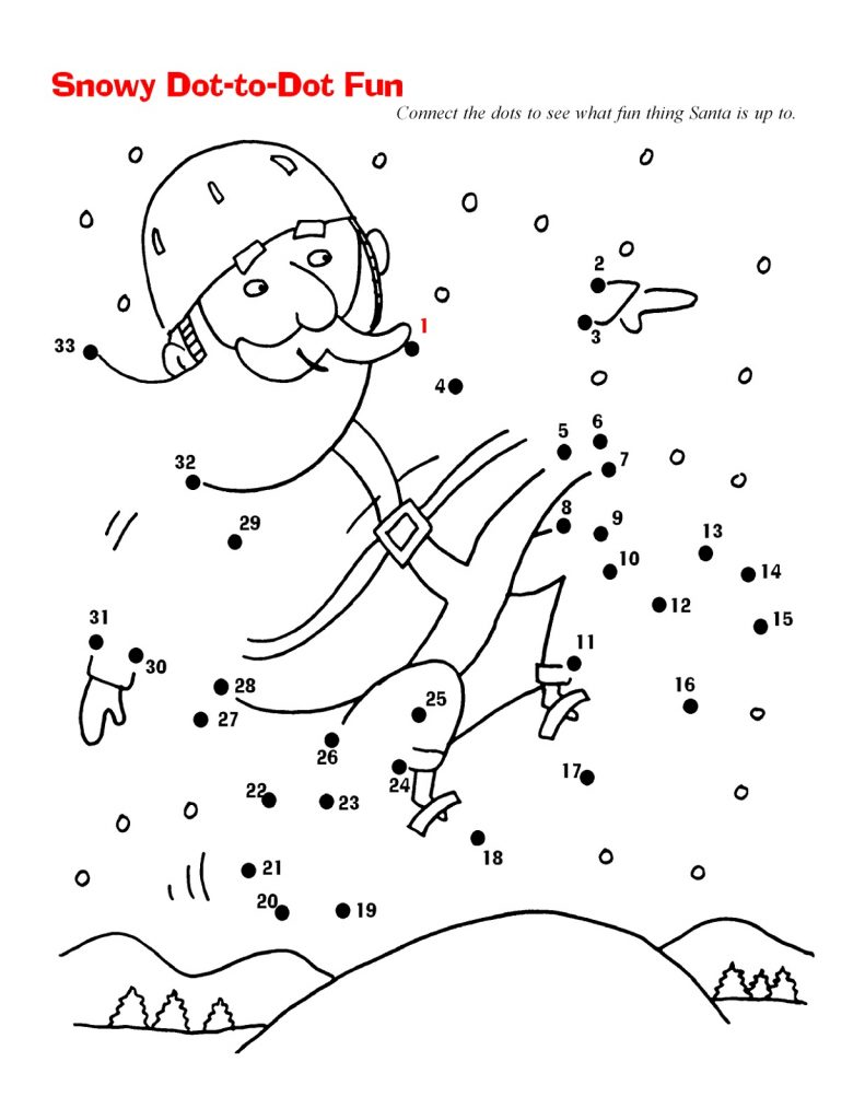 Santa Christmas Dot To Dot For Adults