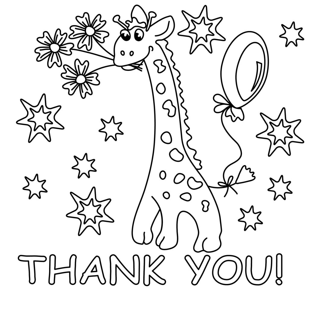 Saying Thank You Coloring Pages