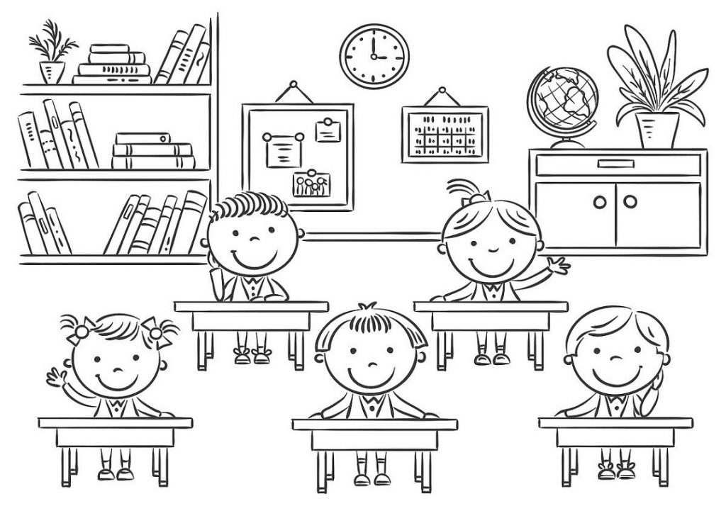 School Coloring Pages Classroom