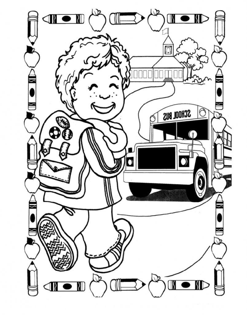 School Coloring Pages Kindergarten