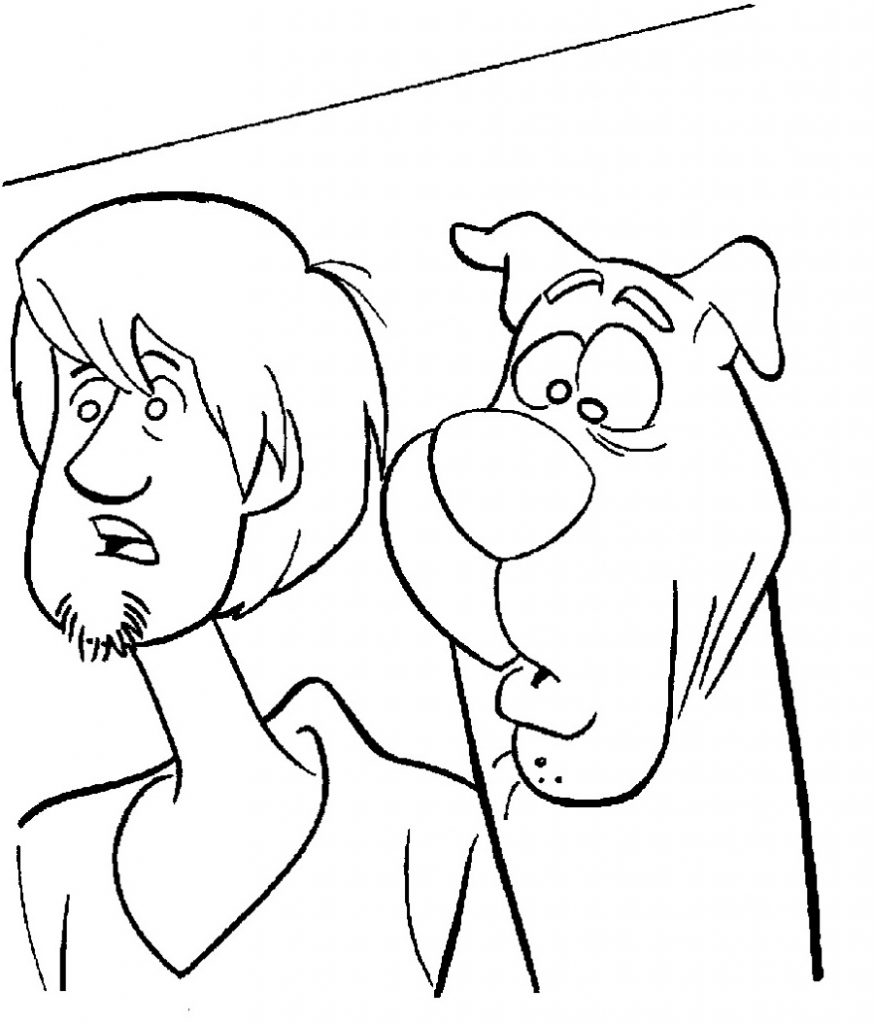 Scooby Doo Coloring Pages Scooby And Shaggy