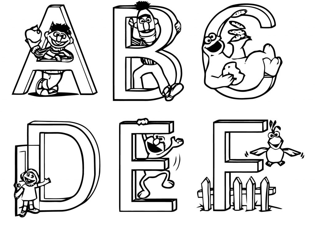 Sesame Street Coloring Pages Alphabet