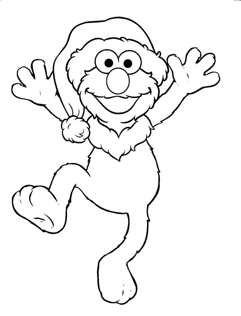 Sesame Street Coloring Pages Easy