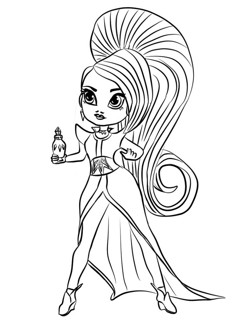 Shimmer And Shine Coloring Pages Zeta