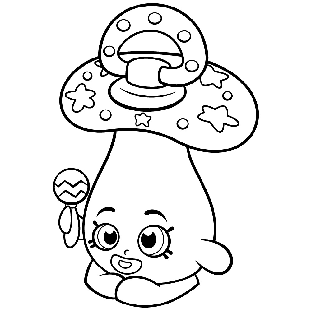 Shopkin Coloring Pages Cute