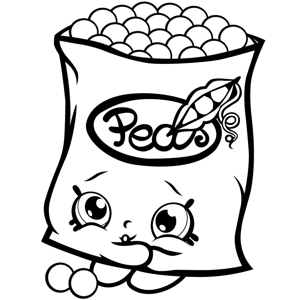 Shopkin Coloring Pages Food