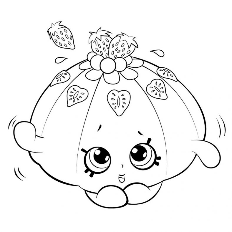 Shopkin Coloring Pages Fruit