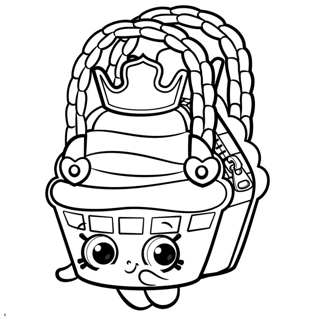 Shopkin Coloring Pages Kawaii