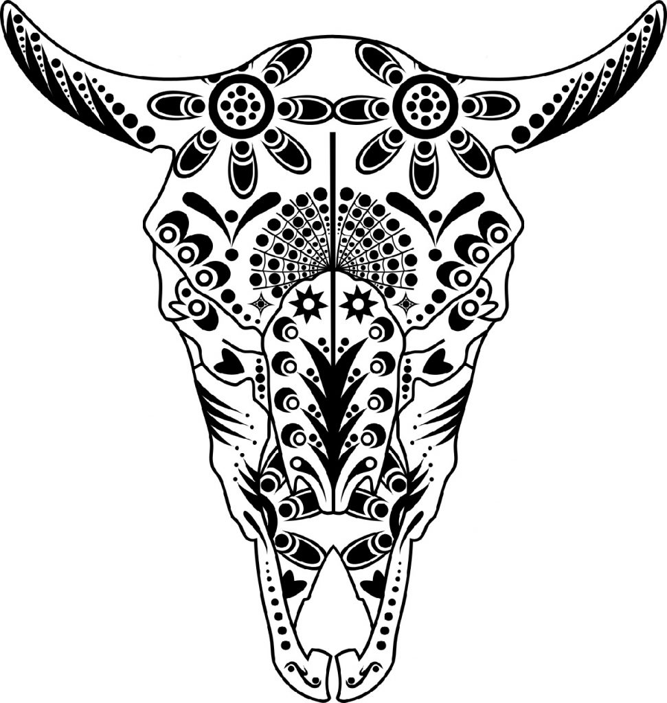 Skull Coloring Pages Animal