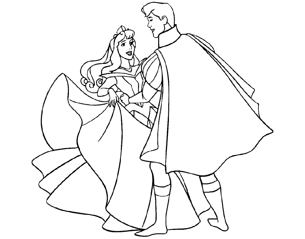 Sleeping Beauty Coloring Pages Dancing