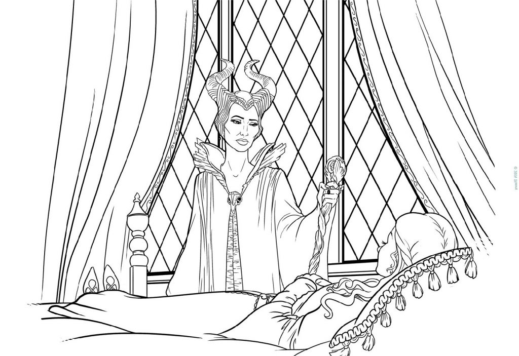 Sleeping Beauty Coloring Pages Maleficent