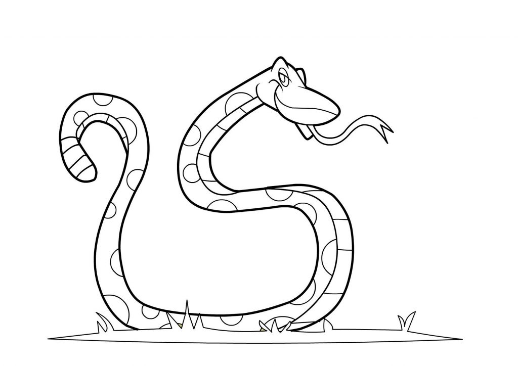 Snake Coloring Pages Cartoon