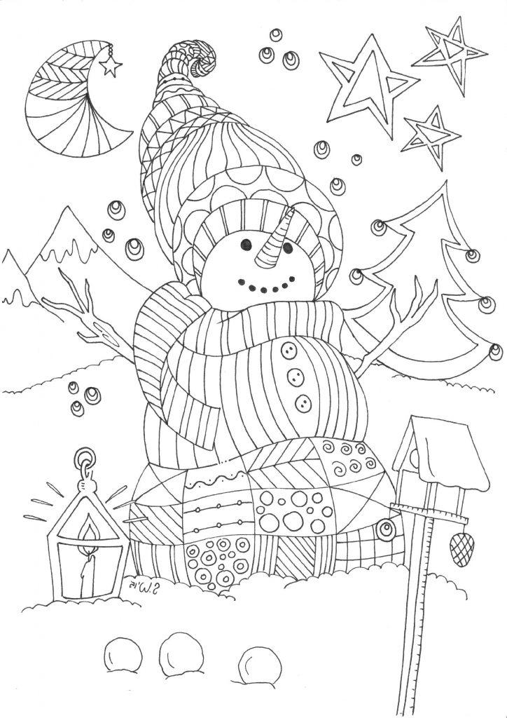 Snowman Coloring Pages Doodle