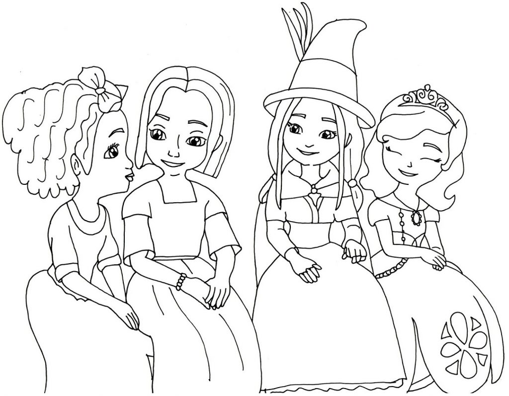 Sofia The First Coloring Pages Disney