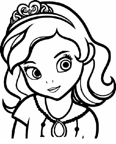 Sofia The First Coloring Pages Faces