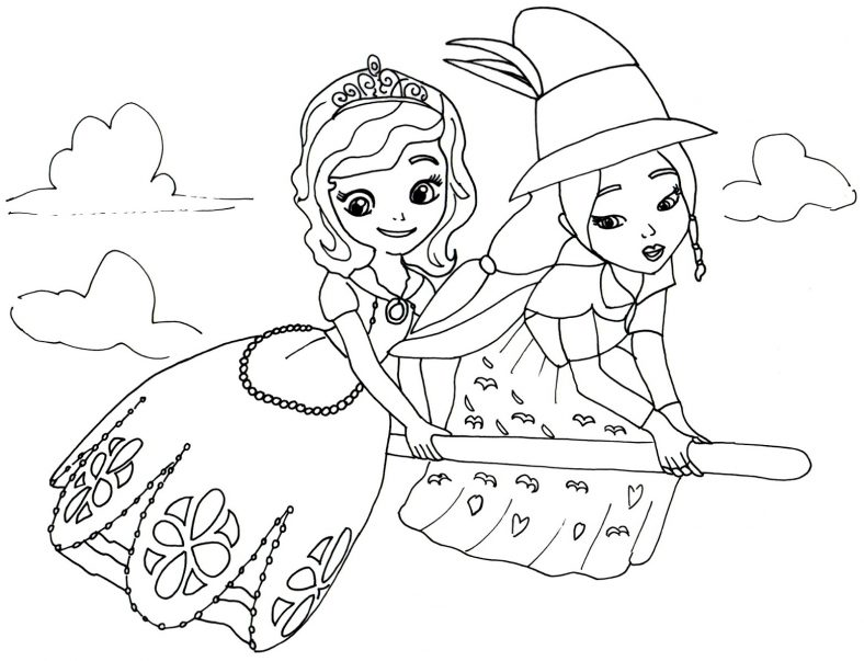 Sofia The First Coloring Pages and Buttercups