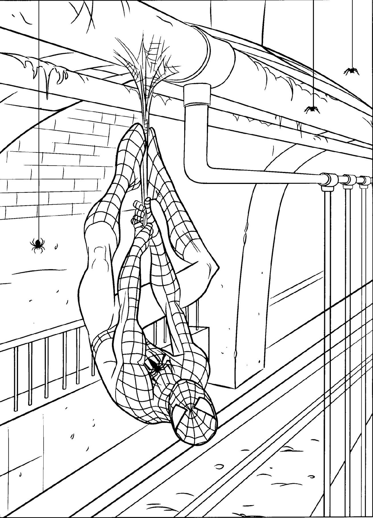 Spiderman Coloring Pages Superheroes   101 Coloring